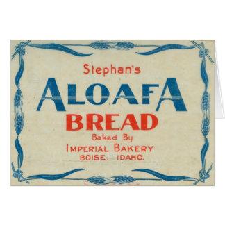 Aloafa Bread Stationery Note Card