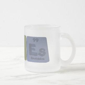 Áloe-Al-o-Es-aluminio-oxígeno-Einsteinio Taza Cristal Mate
