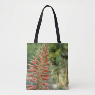 Aloe Blossom Custom All-Over-Print Tote Bag