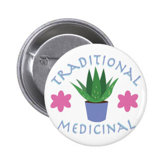 Aloe Plant Traditional Medicinal 2 Inch Round Button
