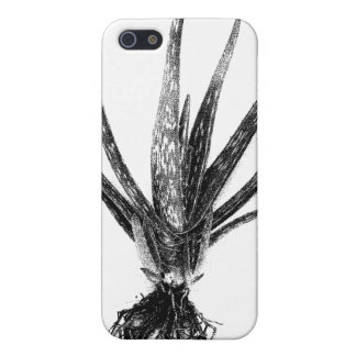 Aloe Vera (Black on White) Case For iPhone SE/5/5s