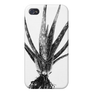 Aloe Vera (Black on White) Cases For iPhone 4