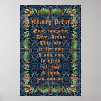 Aloe Vera Border with Morning Prayer Print