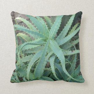 """Aloe Vera Green Polyester Throw Pillow 16"""" x 16"""""""