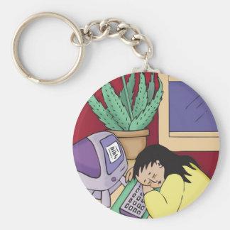 Aloe Vera Basic Round Button Keychain