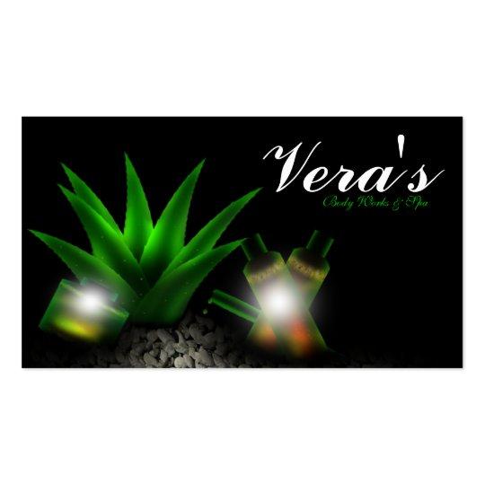 Aloe Vera Rocks Spa Business Card