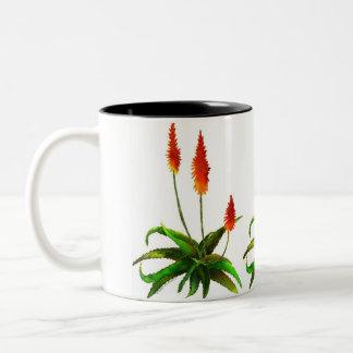 Aloe watercolor mug