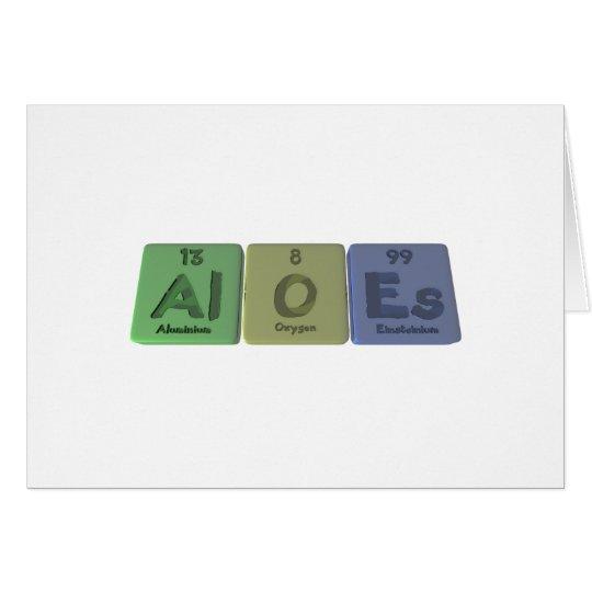 Aloes-Al-O-Es-Aluminium-Oxygen-Einsteinium Card
