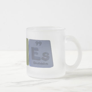 Aloes-Al-O-Es-Aluminium-Oxygen-Einsteinium Frosted Glass Coffee Mug