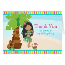 Aloha African American Girl Thank You