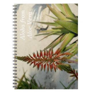 Aloha Aloe Vera Plant Photo Notebook