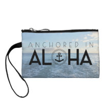 Aloha Anchor Pattern Mini Clutch