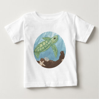Aloha Baby Sea Turtle Baby T-Shirt