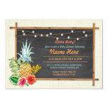 Aloha Baby! Shower Chalk Pineapple Luau Inviation Card