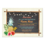 Aloha Baby! Shower Chalk Pineapple Luau Invitation