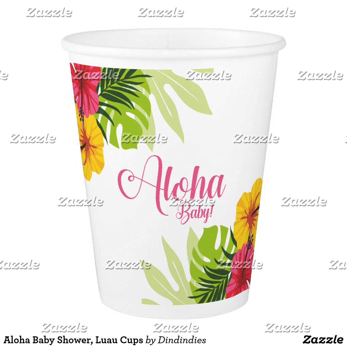 Aloha Baby Shower, Luau Cups