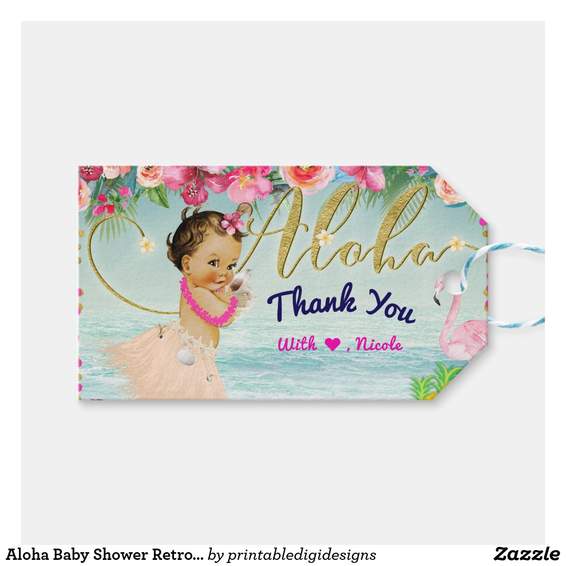 Aloha Baby Shower Retro Hawaiian Beach Party Favor