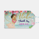 Aloha Baby Shower Retro Hawaiian Beach Party Favor Gift Tags