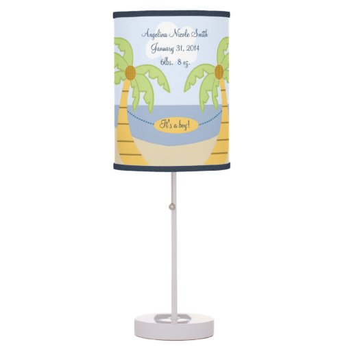 Aloha Baby/Surfer/Beach/Tropical Nursery Lamp