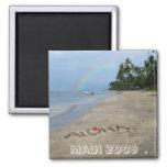 Aloha-Beach 2 Inch Square Magnet