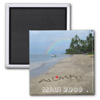 Aloha-Beach 2 Inch Square Magnet