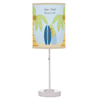 Aloha Beach Baby Surfer Nursery Lamp