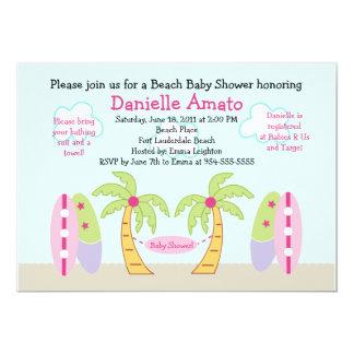 Aloha Beach Party Baby Shower Invitation