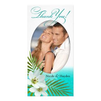 Aloha Beach Tropical Flowers Photo Cards