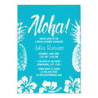 Aloha Beach Wedding Bridal Shower Pineapple Card