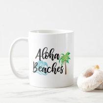 aloha beaches coffee mug