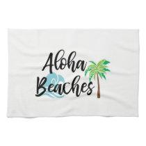 aloha beaches hand towel