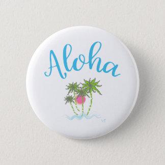 Aloha Beaches Hawaiian Style Summer Button