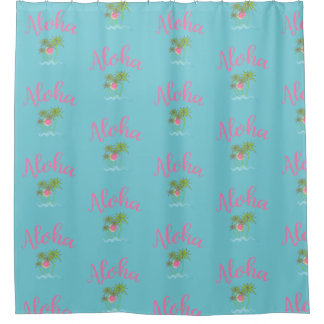 Aloha Beaches Hawaiian Style Summer Cool Shower Curtain