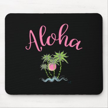 Beach Themed Aloha Beaches Hawaiian Style Summer Tropical Mouse Pad
