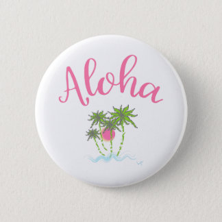 Aloha Beaches Hawaiian Style Summera Button