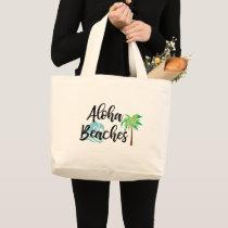 aloha beaches large tote bag