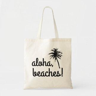"""""""Aloha, Beaches!"""" Palm Tree Tote Bag"""