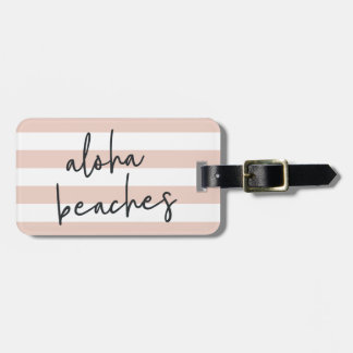 Aloha Beaches Personalized Bag Tag