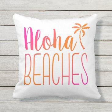 notablenovelties Aloha Beaches | Pink and Orange Pillow