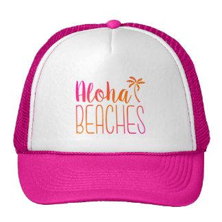 Aloha Beaches | Pink and Orange Trucker Hat