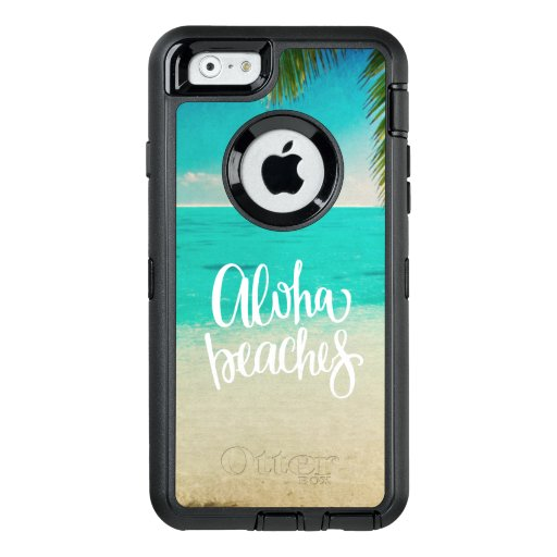 Aloha Beaches Quote Summer OtterBox Defender iPhone Case