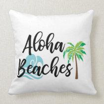 aloha beaches throw pillow