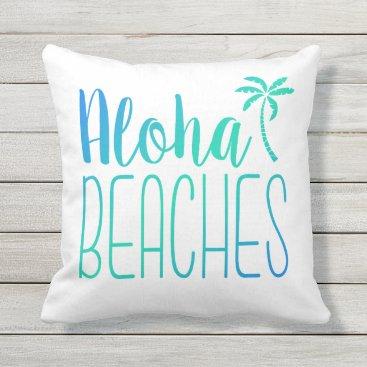 notablenovelties Aloha Beaches | Turquoise Ombre Pillow