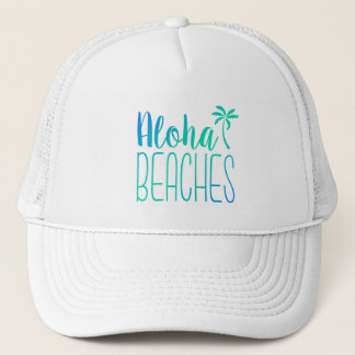 Aloha Beaches | Turquoise Trucker Hat