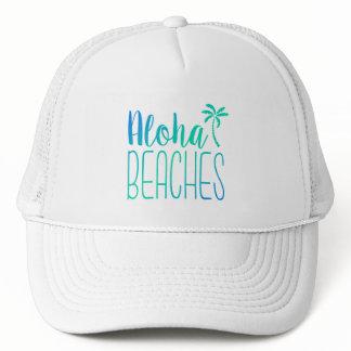 Aloha Beaches   Turquoise Trucker Hat