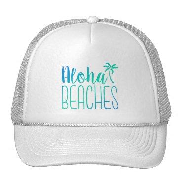 notablenovelties Aloha Beaches | Turquoise Trucker Hat