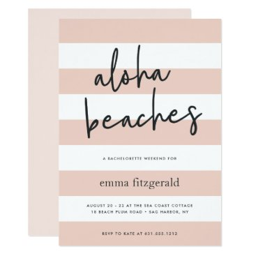 Beach Themed Aloha Beaches | Weekend Getaway Invitation
