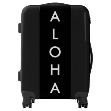 Beach Themed Aloha Black And White Tropical Hawaiian Trendy Luggage