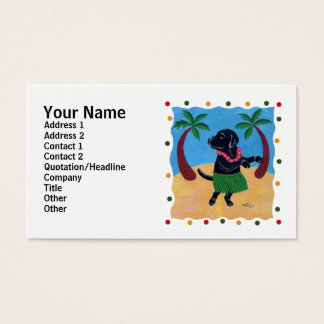 Aloha Black Labrador dots Business Card