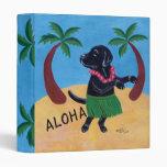 Aloha Black Labrador Vinyl Binder